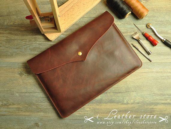 Leather 13 Macbook Sleeve Macbook Case Macbook 13 by iLeatherStore