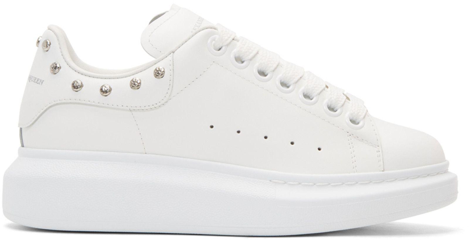 White Studded Oversized Sneakers Alexander McQueen Cheap Sale Order tVzbJ