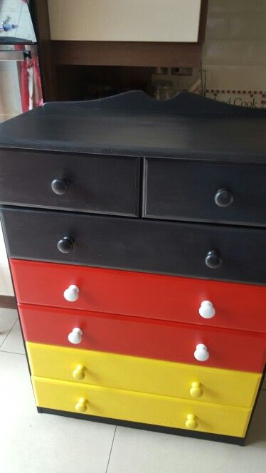 Mickey mouse chest of drawers mickey mouse pinterest - Muebles de mickey mouse ...