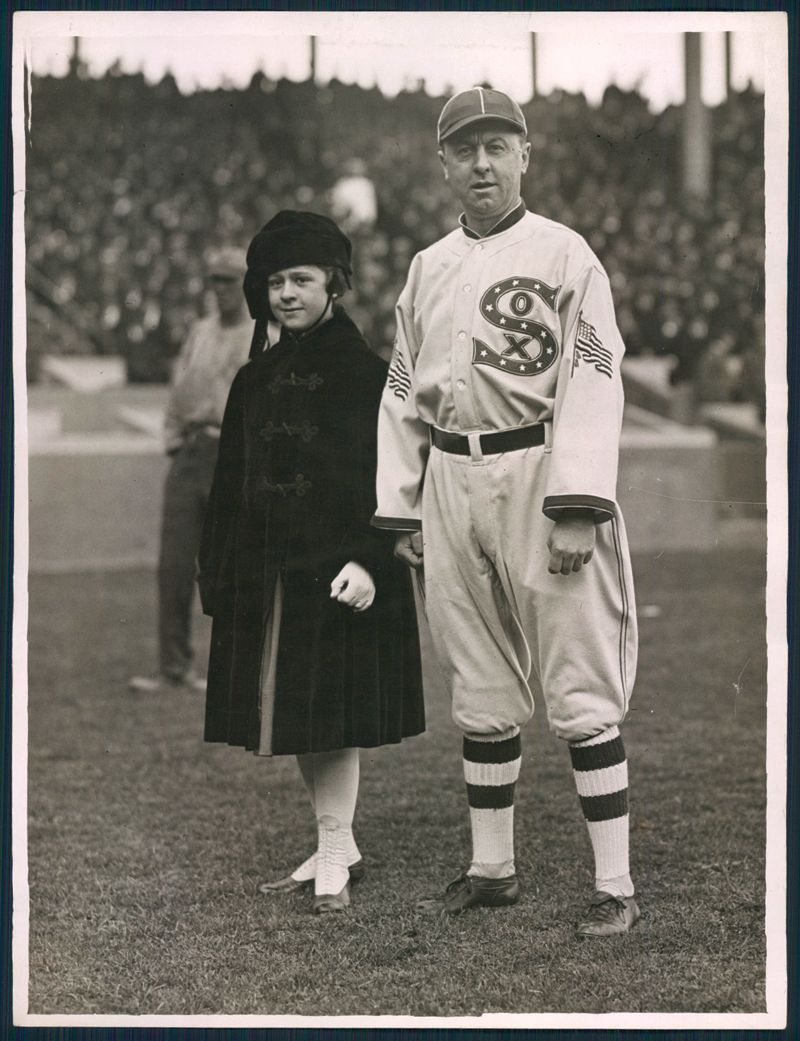 oscar happy felsch world series in nyc before the 1917 chicago white sox chicago s regular season uniforms featured a large s small o and x logo on the chest and the american flag on the sleeve in