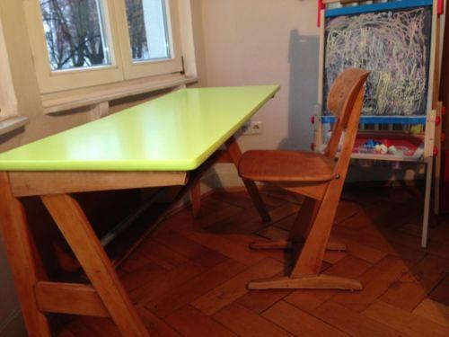 schreibtisch schultisch schulbank antik casala mit stuhl. Black Bedroom Furniture Sets. Home Design Ideas