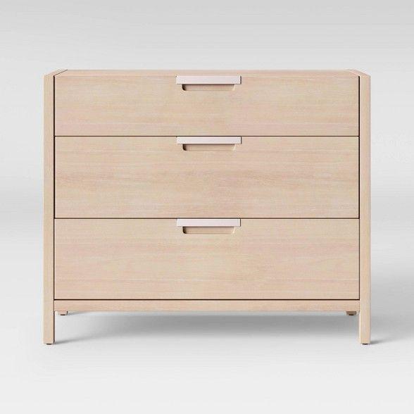 Porto 3 Drawer Dresser Bleached Wood Project 62 Target