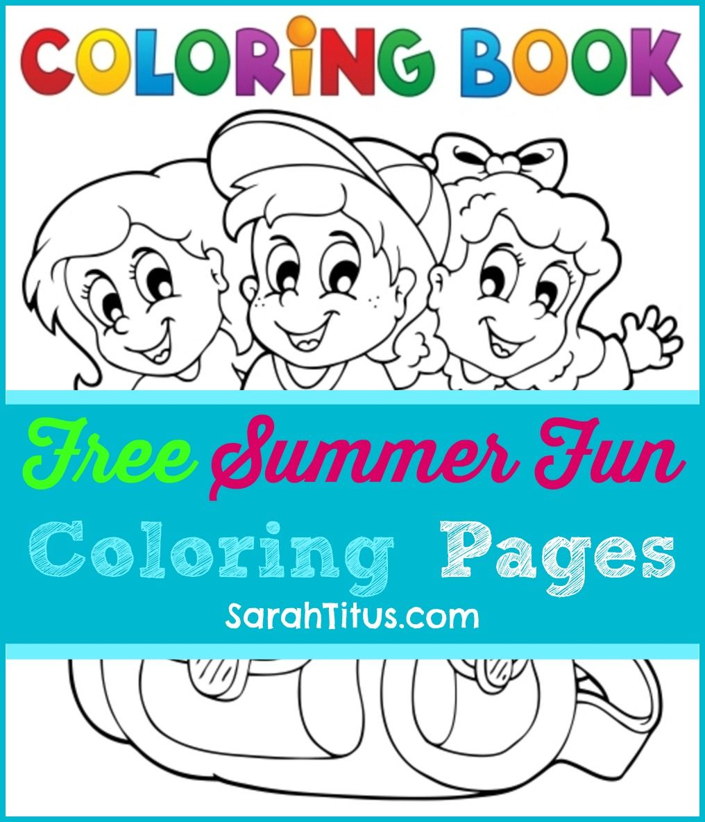 Summer crafts coloring pages - Free Summer Fun Coloring Pages For Kids