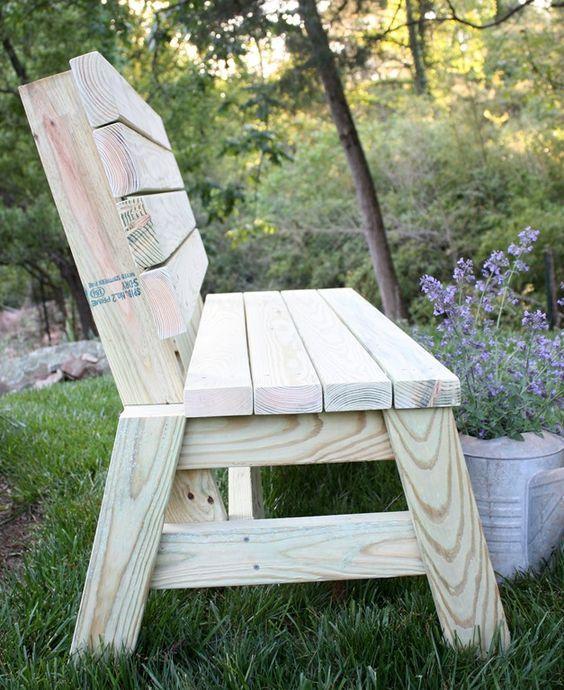 12 DIY Bench Tutorials | Bancos, Oficinas y Madera