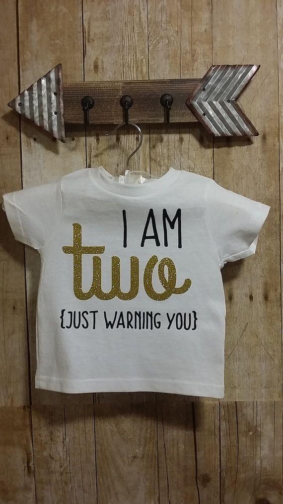 8716cd0b I am Two Warning toddler T-shirt Fun t-shirt gift idea | Birthday ...