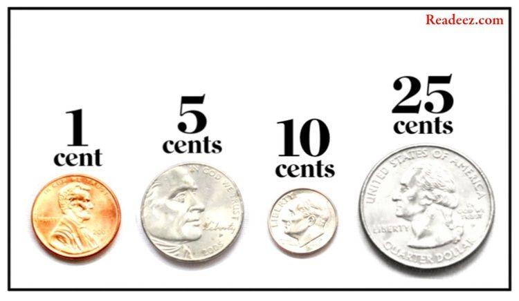 Penny Nickel Dime And Quarter Four Of The Stars From The Value