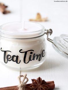 DIY Candle Jar with Lettering   DIY Kerzenglas mit Lettering