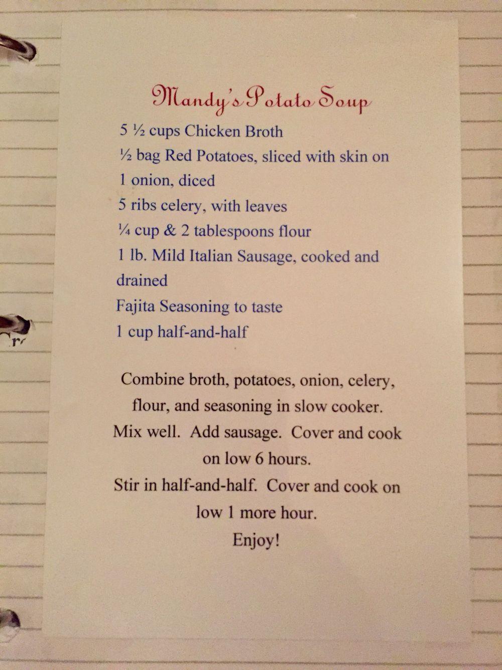 My sis's famous soup!