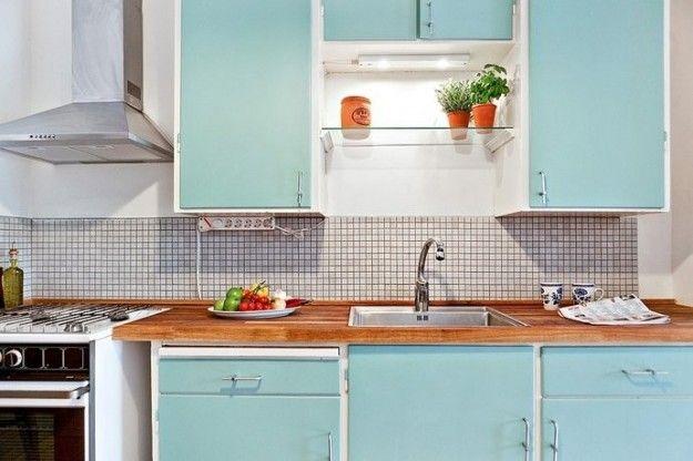 Azzurro per la cucina - Cucina vintage nelle nuances dell'azzurro.