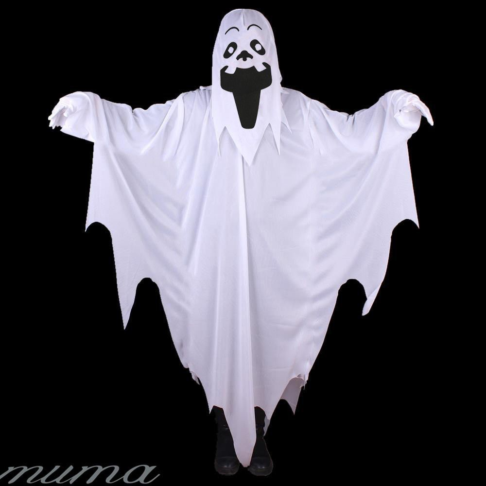 Kids Ghost White Sheet Scary Halloween Fancy Dress Costume