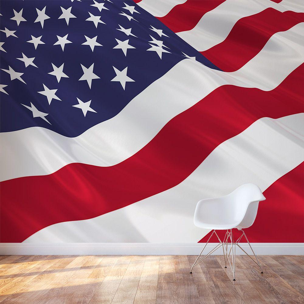 American Flag Wall Mural Murals