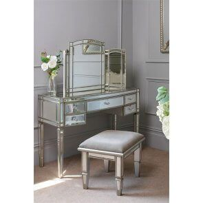 Sensational Antoinette Toughened Mirror Dressing Table Bedroom Gmtry Best Dining Table And Chair Ideas Images Gmtryco