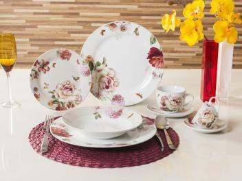 Aparelho De Jantar Cha Cafe 42 Pecas Casambiente Porcelana