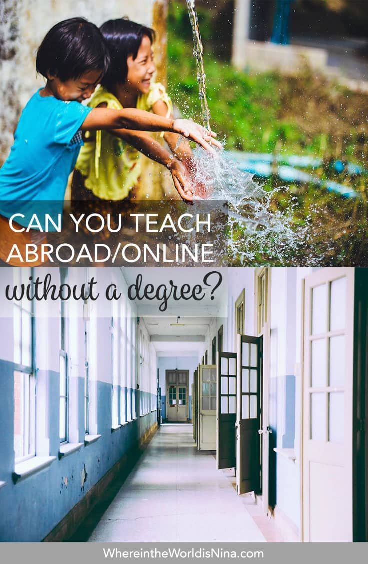 Can You Teach English Online/Abroad Without a Degree