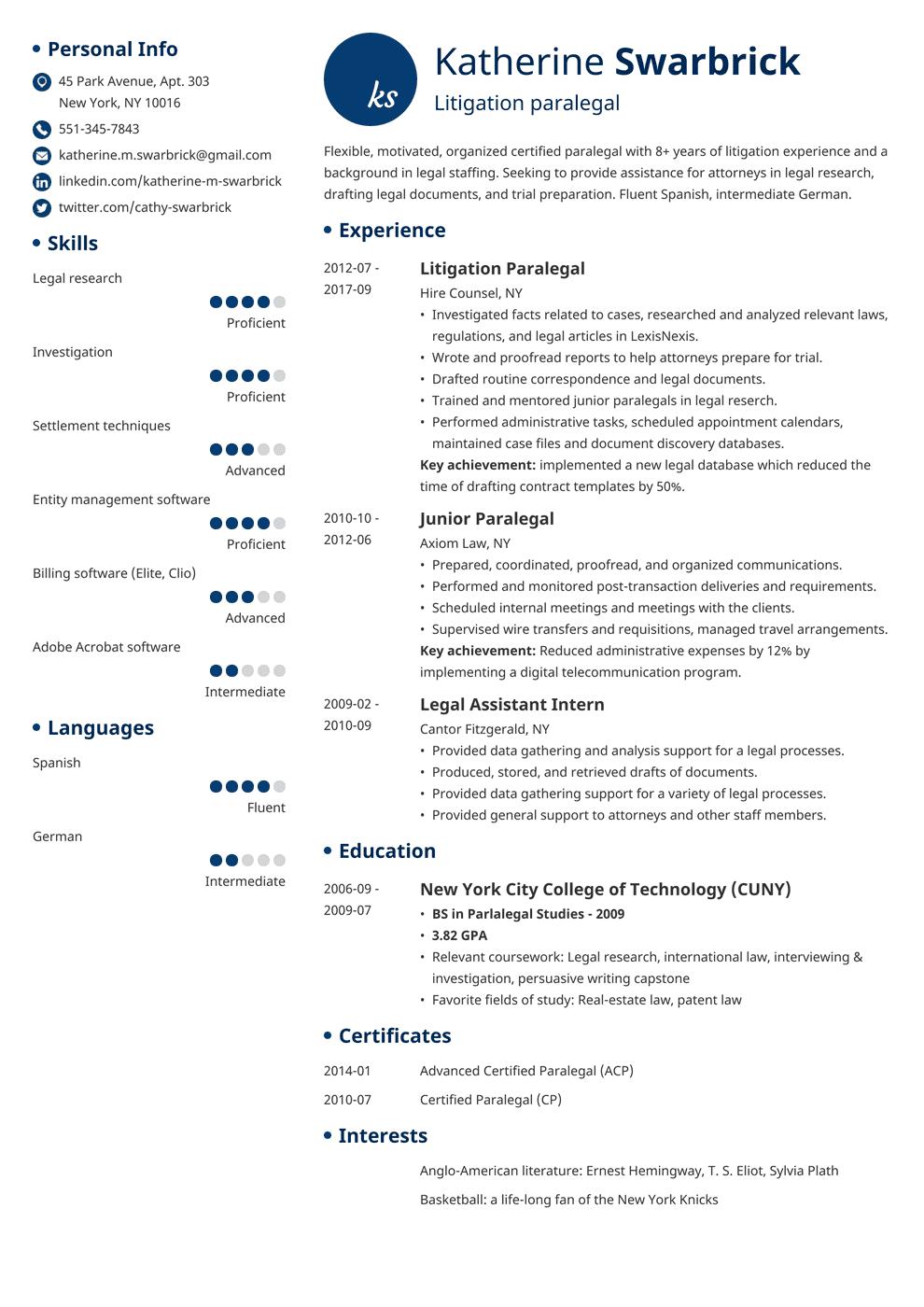paralegal resume template initials in 2020 Resume