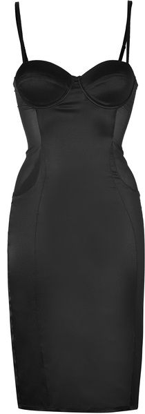 Black Silk Siren Dress - Lyst