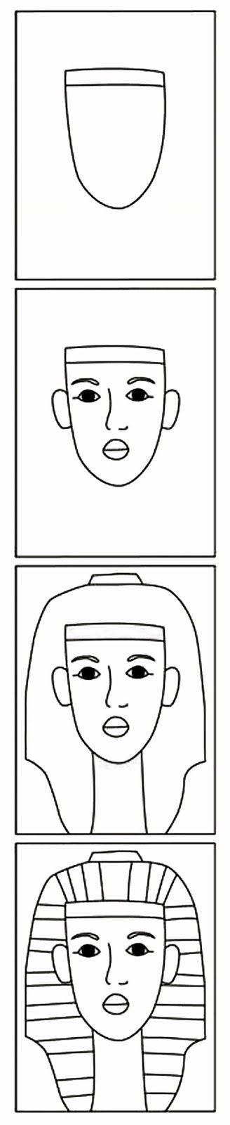 Miten piirtää Tutakhamon?