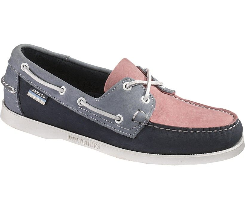 Women's Sebago Spinnaker Dress Shoes (Pink/Navy/Blue)
