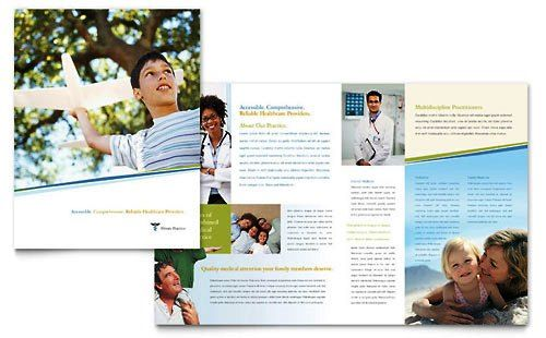 Contoh Pamflet Brosur Klinik Medis Brochure Pamphlet Designs
