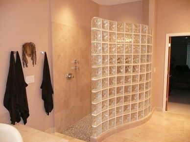 Tabique de ducha de pav s ba o pinterest tabique - Duchas con muro ...