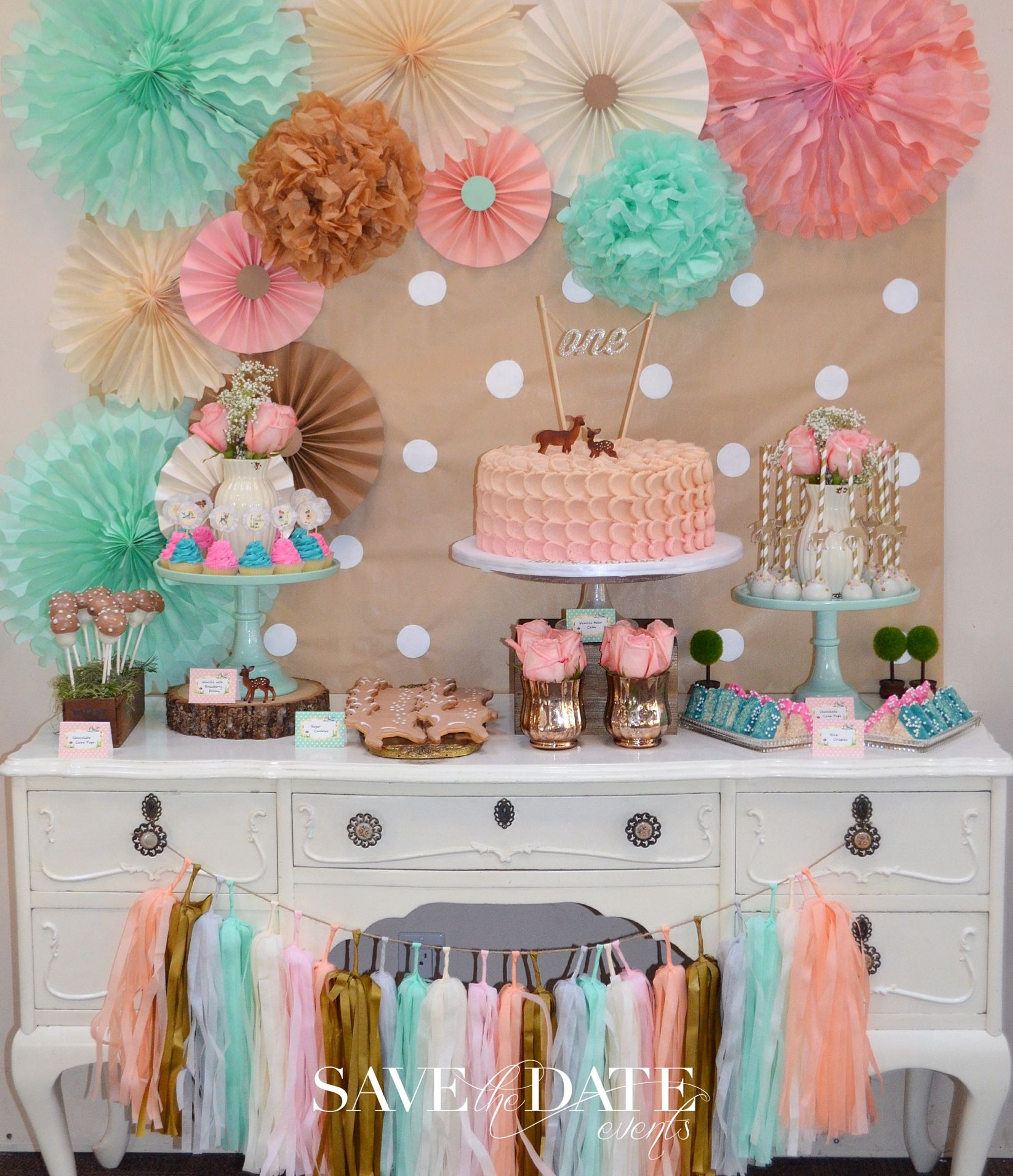 Bambi 1st Birthday Sweet Table