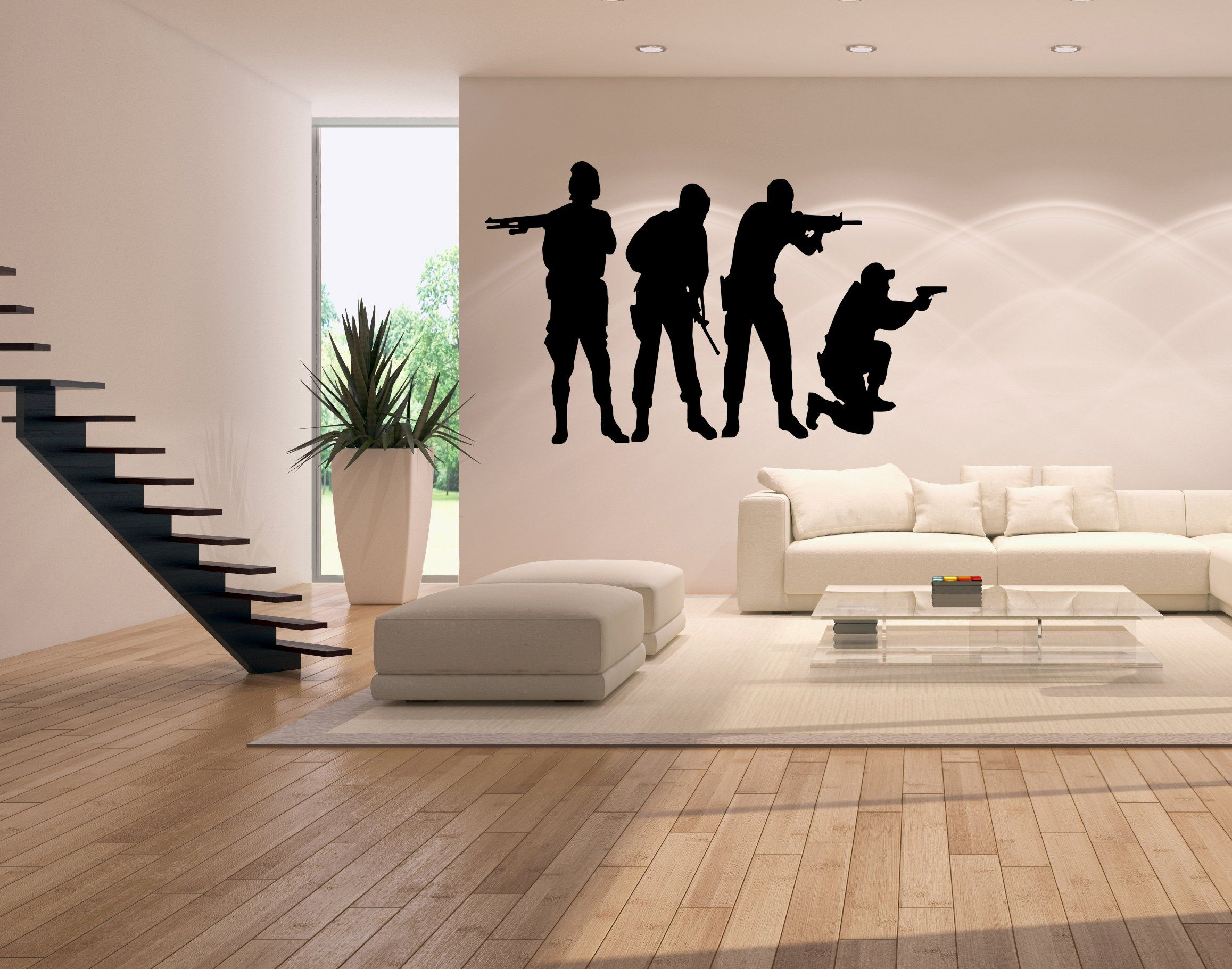 Military Bedroom Decor Military Swat Team Army Men Soldier Kid Room Decor Vinyl Wall Art