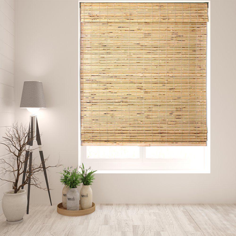 Arlo blinds cordless rustique bamboo roman shade walmart