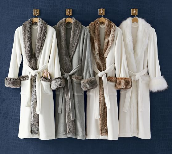 335103d88f Faux Fur Robe Without Hood - Ivory Caramel  potterybarn