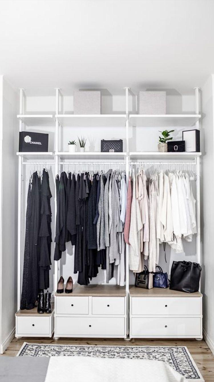 Open Closet Inspiration To Keep Your Wardrobe Super Organized In 2020 Ikea Closet Hack Ikea Closet Design Ikea Closet