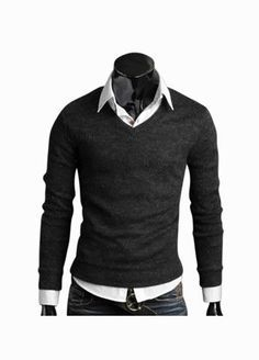 Mens Basic Editions Sweaters Knit Top Henley Neck Sweaters Black Slim Cut NEW