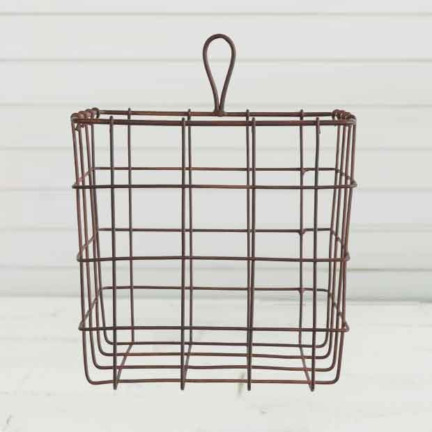 Rusty Finish Wire Basket, Set of 2 images