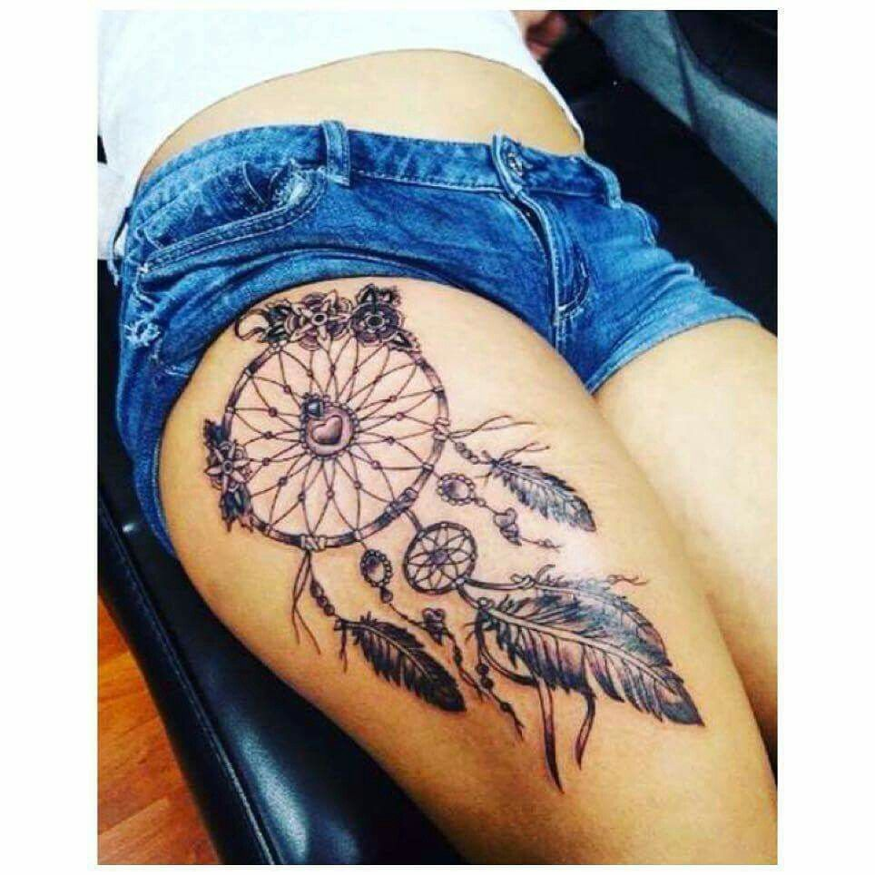 Dream Catcher Tattoo On Thigh Simple Beautiful Dream Catcher  Tattoo Ideas  Pinterest  Beautiful Dream Decorating Design