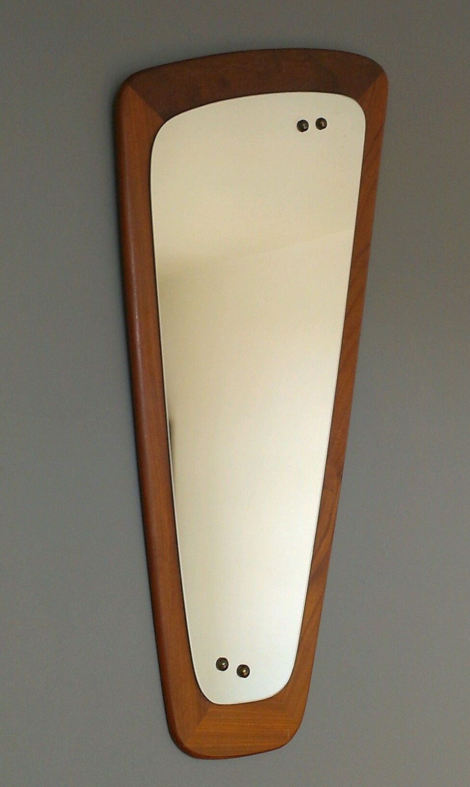 Vintage Retro Solid Teak Wall Mirror G Plan Danish Teak