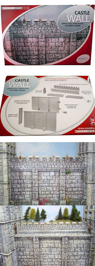 Terrain and Scenery 177640: Renedra Castle Wall - Rnwall 28Mm Gaming