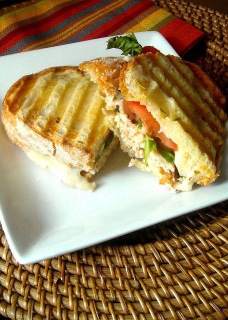 turkey balsamic panini ciabatta bread simple lunches pinterest