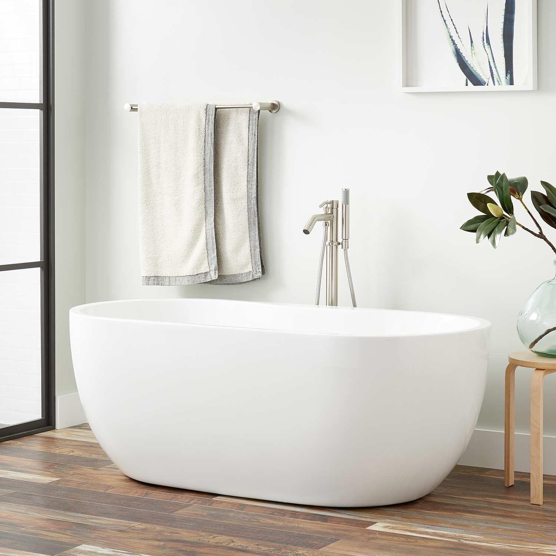 56 Boyce Acrylic Tub In 7 Rim Holes Signature Hardware Acrylic Tub Bathtub Remodel Air Tub