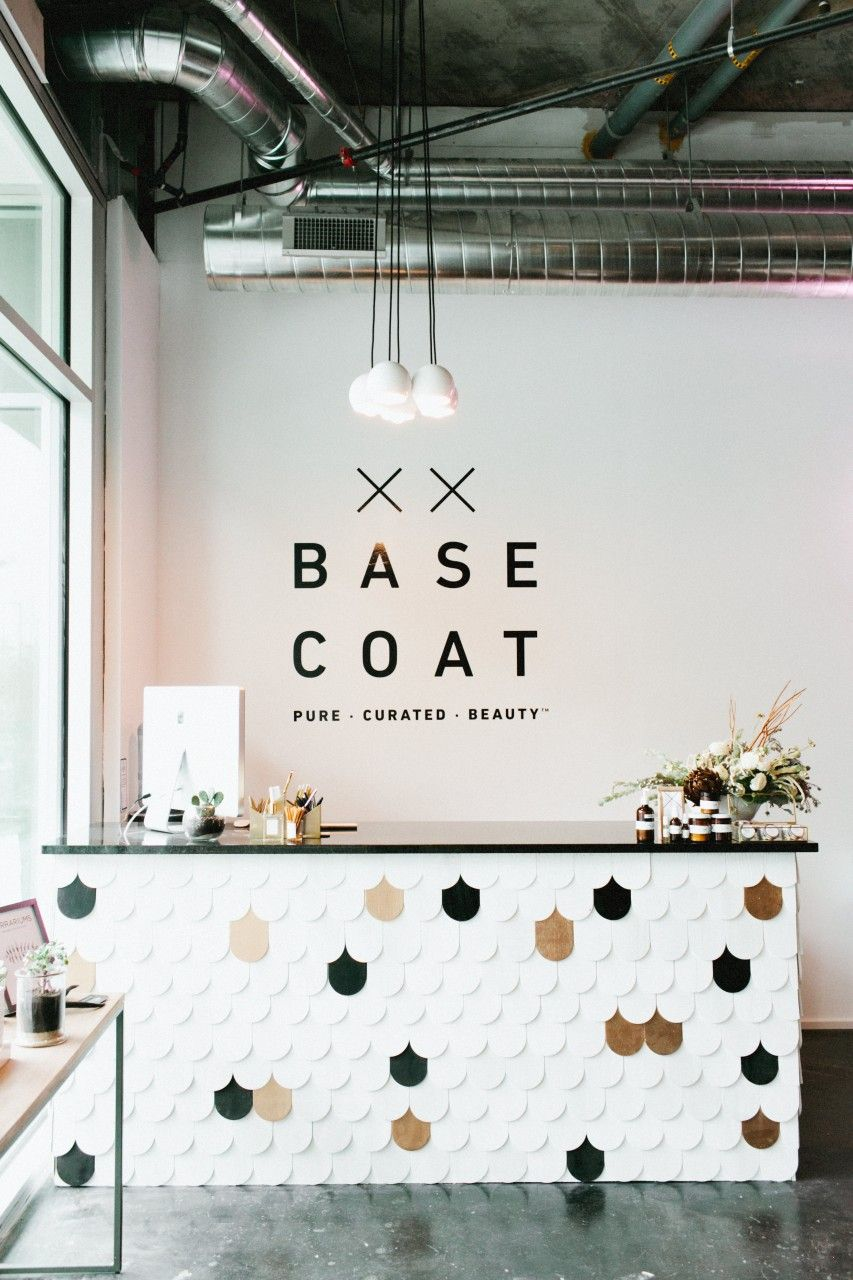 Base coat decor salon and spa beauty bar salon beauty salon interior beauty