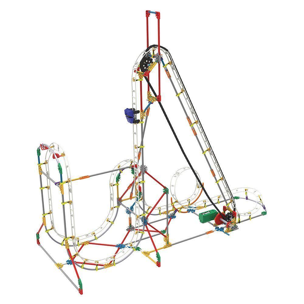 Knex 561 Pc Blizzard Blast Roller Coaster Building Set Multicolor