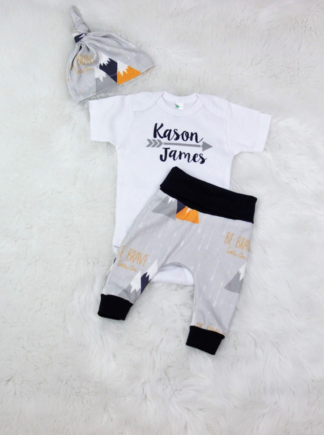 2eccaed3a8c8 baby boy coming home outfit personalized newborn outfit take home set organic  cotton by bibitibobitiboutique on Etsy