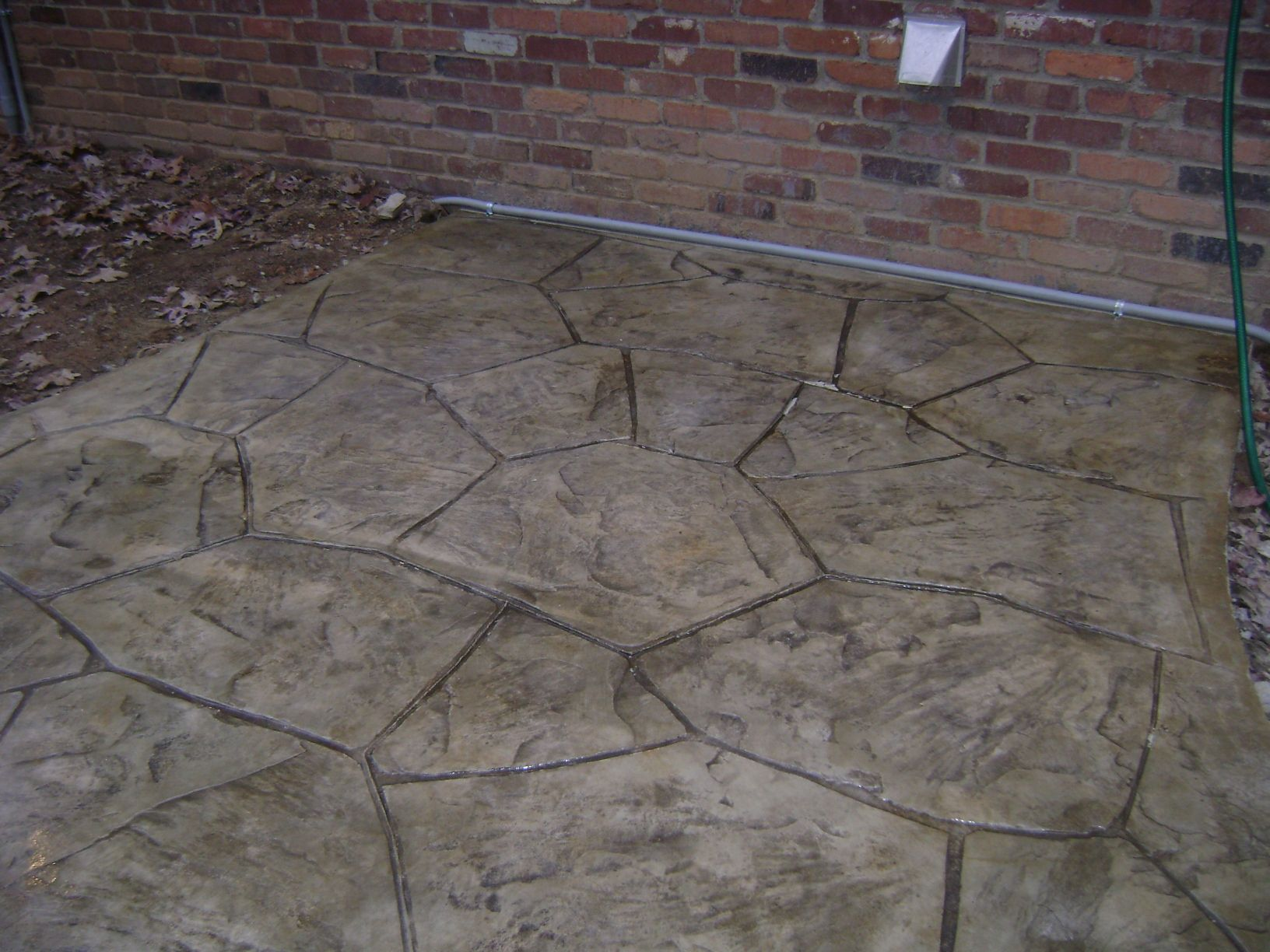 Stamped And Stained Concrete Patios And Walkways | Lawn Service .