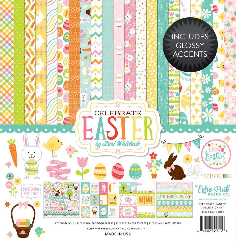 Scrapbook paper echo park - Echo Park Celebrate Easter Lori Whitlock Creativation Cha 2017 Echo Parkscrapbook Paperloricraft