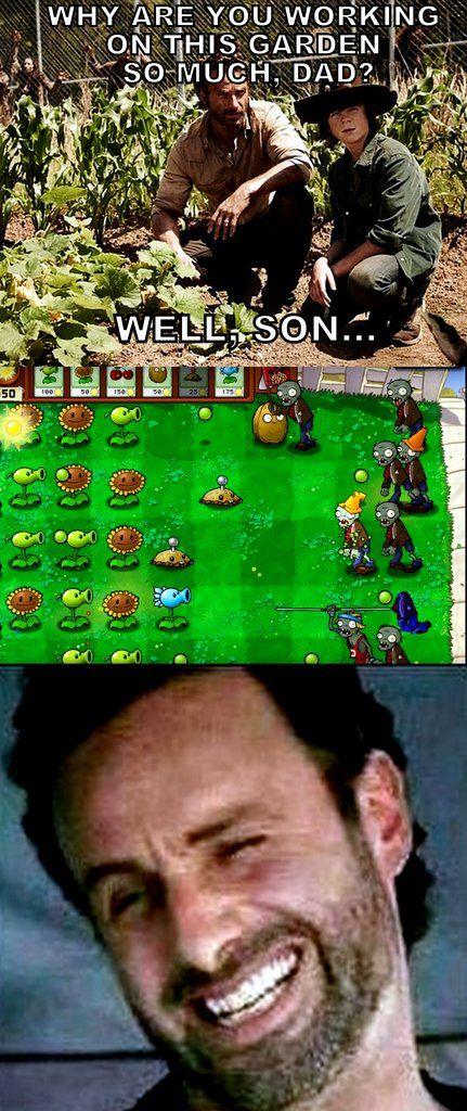 Plants Vs Zombies Walking Dead Memes Plants Vs Zombies The