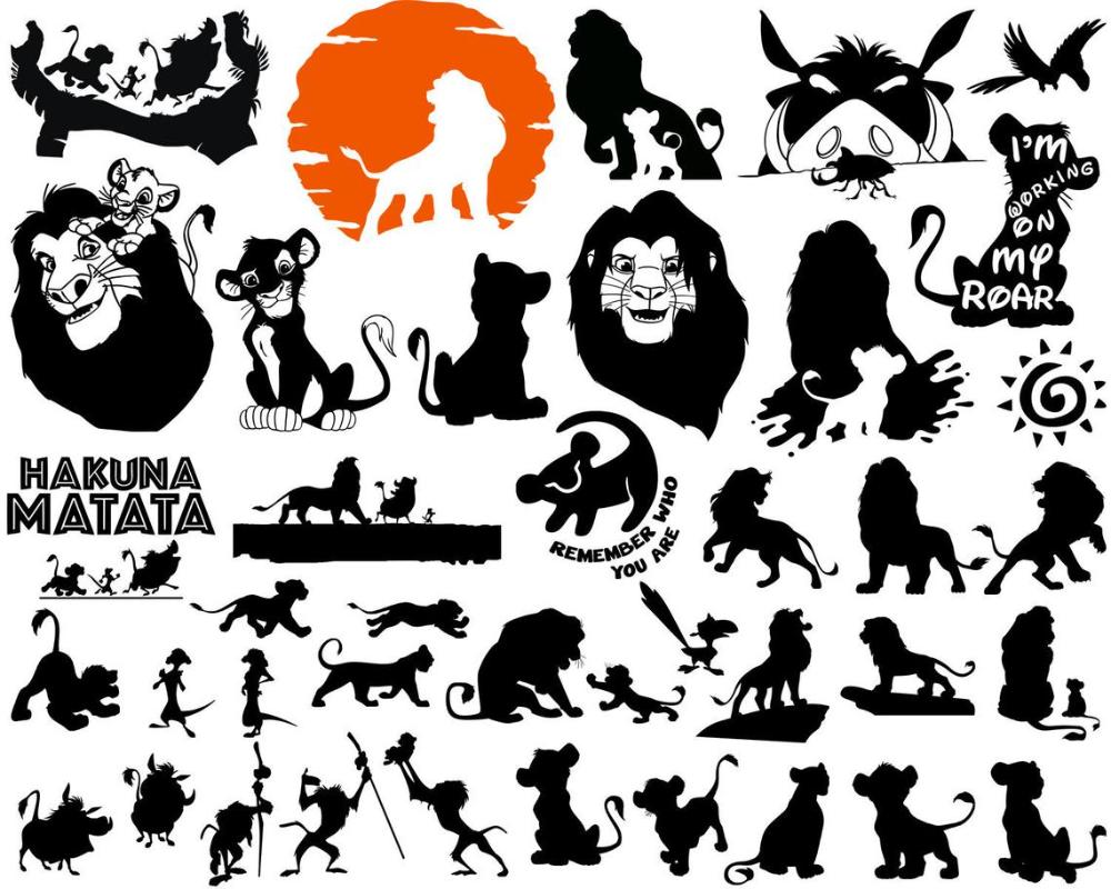 50 Off Sale Lion King Silhouette Digital Lion Clipart Etsy Lion Silhouette Lion Clipart Lion King