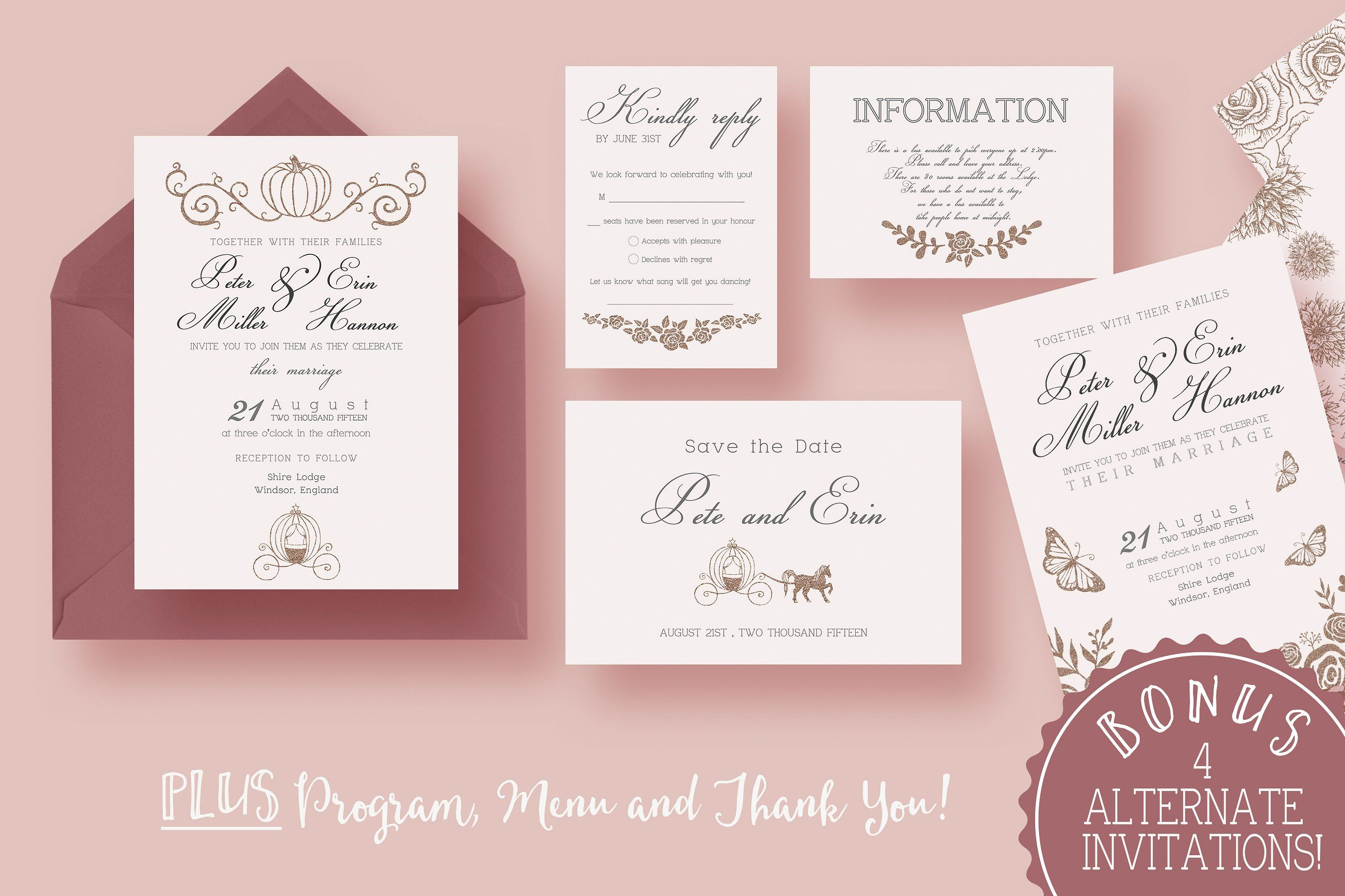 Fairy Tale Wedding Suite Vectors Drawn Ai Included Graphics