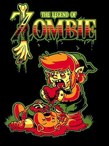 'The Legend of Zombie' Funny Classic Video Game Parody 18x24 - Vinyl Print Poster