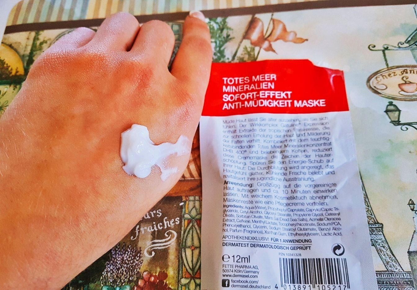 Dermasel Totes Meer Mineralien Sofort-Effekt Anti-Müdigkeit Maske