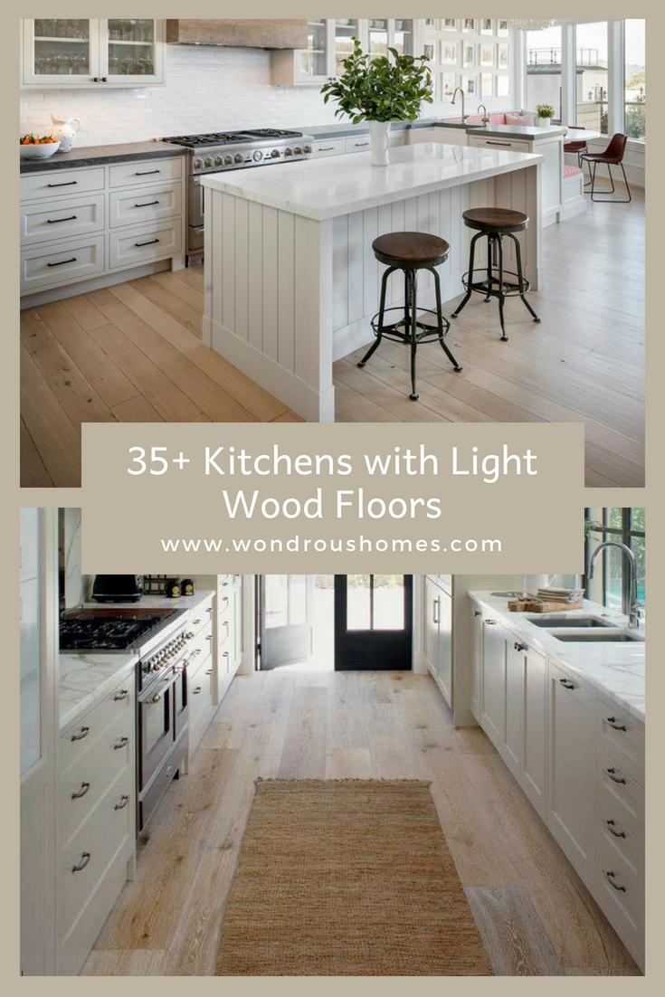 9+ Kitchens with Light Wood Floor Ideas   Light wood floors, Wood ...