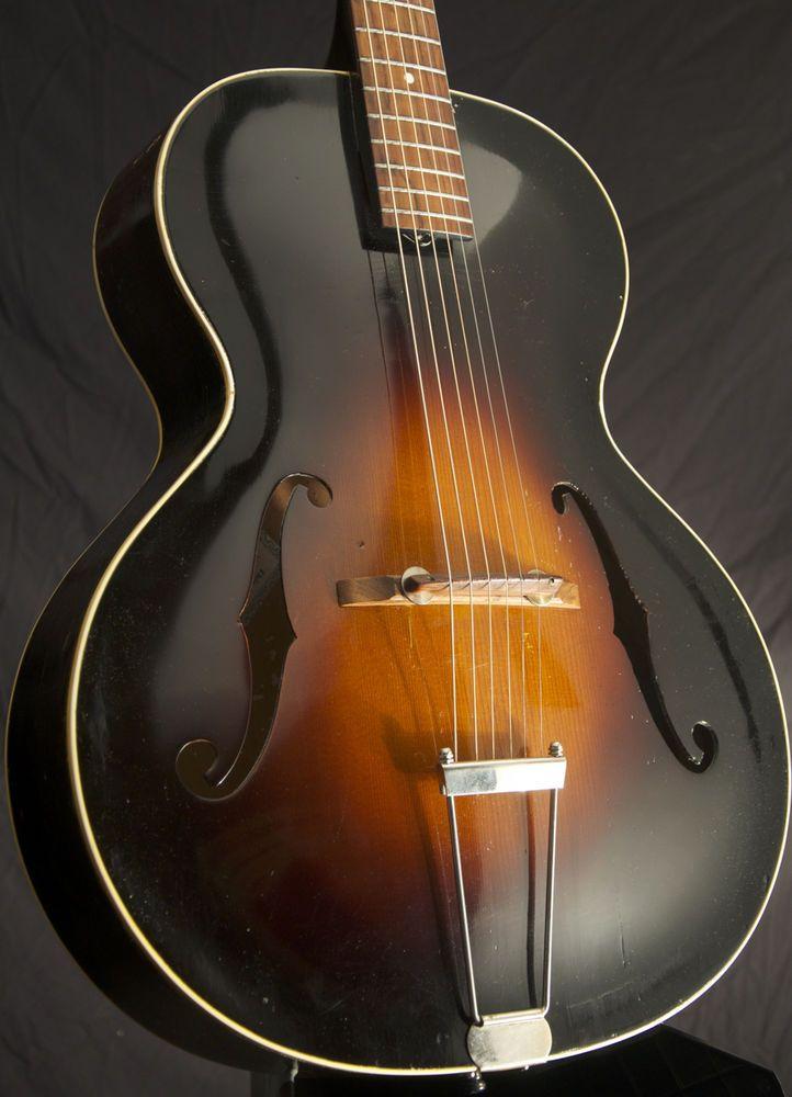 1950 Epiphone Zenith Archtop Acoustic Gibson Vintage W Case Grlc1316 Epiphone Acoustic Guitar Pictures Acoustic