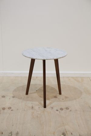 Oia marble side table walnut marbles tables and lamp table oia marble side table walnut aloadofball Image collections