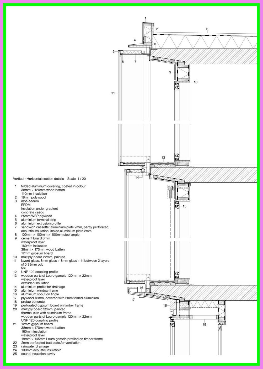 84 Reference Of Drawer Section Detail Dwg In 2020 Concrete Architecture Facade Architecture Concrete Structure